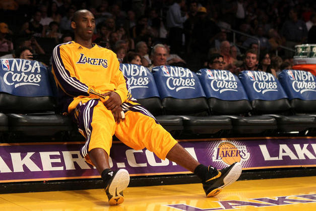 Kobe, in his natural habitat, alone...